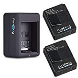 GoPro 2 Genuine original Rechargeable Battery Pack and GoPro Dual Battery Charger for GoPro HD HERO3+, HERO3 AHDBT-302 AHBBP-301