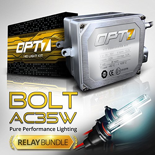 Pro Magnum Retrofit (Bolt AC 35w HID Kit - All Bulb Sizes and Colors - Relay Capacitor Bundle - 2 Yr Warranty [9006 - 5000K Bright)
