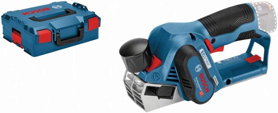 Bosch Professional GHO 12V-20 - Cepillo a batería (sin batería, 12V, rebaje 17mm, en L-BOXX)