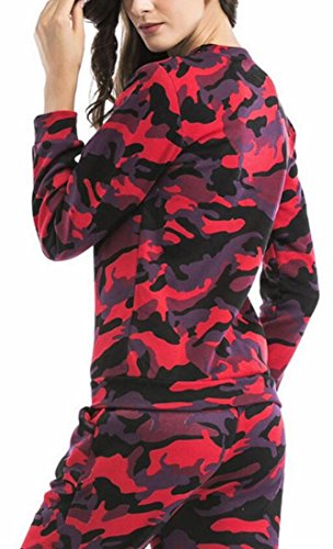 Pullover Classic Sleeve Sweatshirt 1 Camouflage UK today Print Long Women U6qZx0wg
