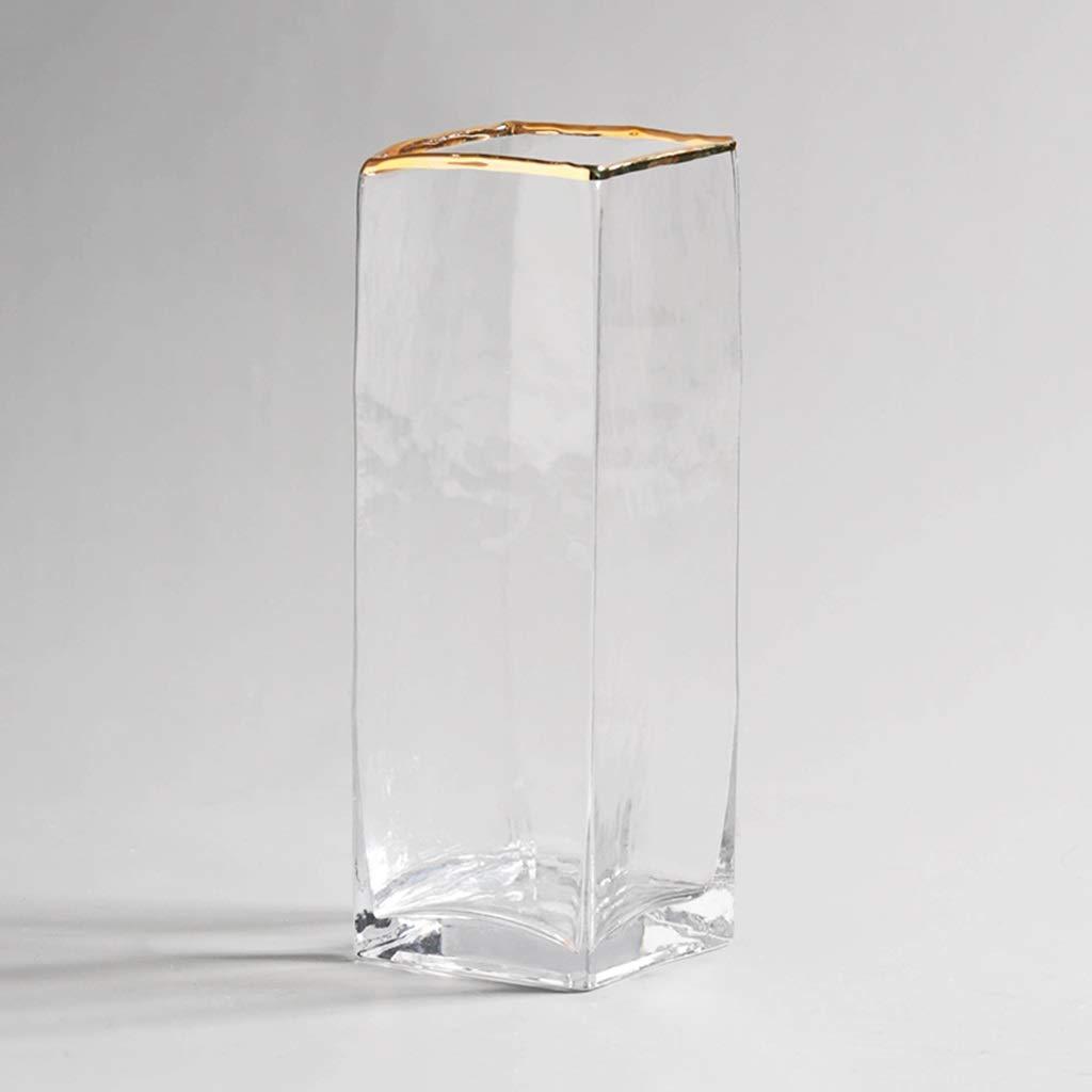 クリエイティブ花瓶、ガラス家庭用装飾透明フラワーアレンジメントベッドルームベッドサイドテーブルティーテーブル花瓶 (サイズ さいず : 10*29CM) B07QLC31BP  10*29CM