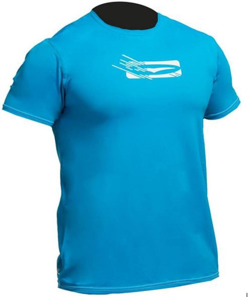 FLATLOCK seam construction Blue Gul T-Shirt Tee T Shirt Top Fit Short Sleeve Quick Dry Lightweight Rash Vest Top Crip