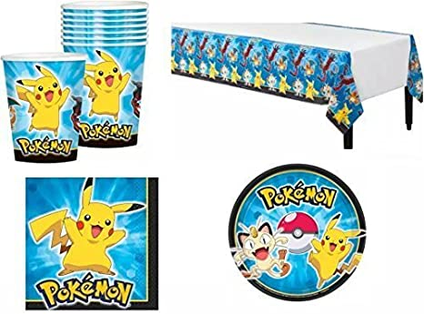 Amazon Com Pokemon Pikachu Friends Party Pack For 8 By