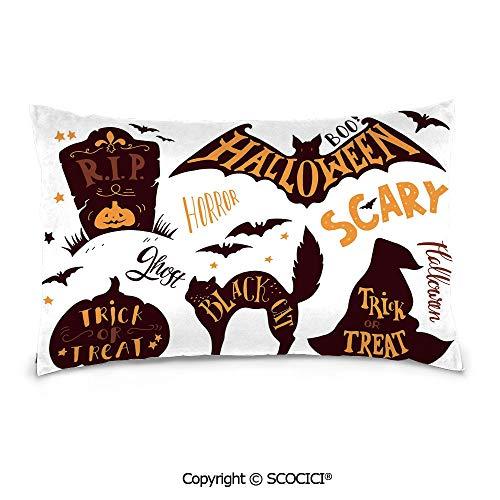SCOCICI Rectangle Soft Cotton Velvet Throw Pillow Cover,20
