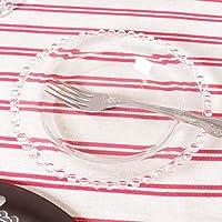 Bella Perle Cristal plato de postre con borde de cuentas utilizado ... f9419f3adb34