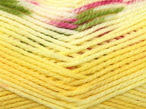 Hayfield Blossom Baby Knitting Yarn Chunky 357 Pretty Primrose - per 100 gram ball