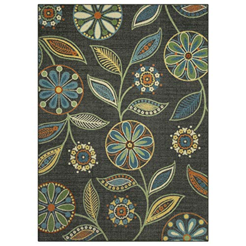 Maples Rugs Reggie Floral Area Rugs for Living Room & Bedroom [Made in USA], Multi, 5 x 7
