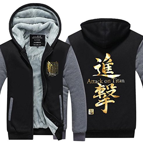 Poetic Walk Anime Attack On Titan Survey Legion Thick Jacket Hoodie