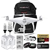 DJI Phantom 4 Advanced Bundle Upgrade Kit w/ Exclusive Drone World Backpack Travel Pack, Lens Filters, 1 Extra Battery (2 Total) Triple Battery Charging Hub, 32 GB and More