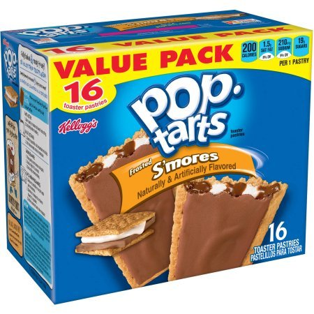Kellogg's Pop Tarts Frosted S'mores Value Pack 16 Toaster Pastries 29.3oz