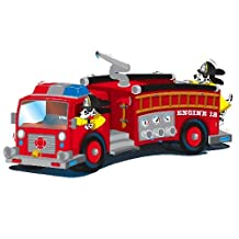 A Birthday Place 12 - Firetruck Edible Image Cupcake Toppers
