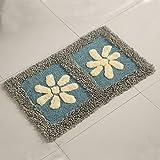 Cotton bathroom water-absorbing mats household mats non-slip door mat bathroom mat -50*80cm k