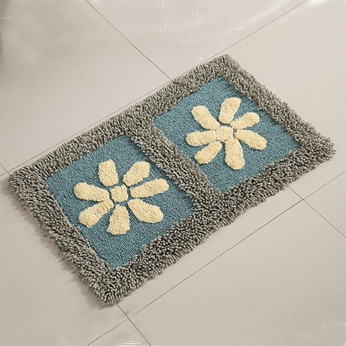 Cotton bathroom water-absorbing mats household mats non-slip door mat bathroom mat -5080cm k by ZYZX