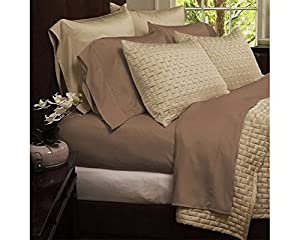 Awesome 4 Piece Set: Hotel Comfort 1800 Series Organic Bamboo Bed Sheets   Queen    Taupe