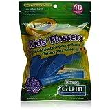 Butler Gum Crayola Dental Flossers For Kids - 40 Ea (Pack of 3)