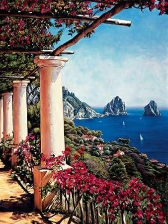 Pergola en Capri de Wright, Elizabeth de impresión sobre lienzo y papel, papel, Klein (42 x 56 cms) : Amazon.es: Juguetes y juegos