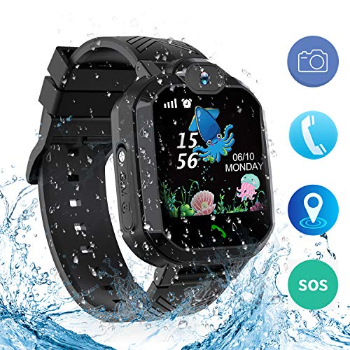 bohongde Kids Smartwatch Waterproof, Smartwatch with SOS, Camera, Alarm Clock,1.44 HD Screen ,Games for 3-12 Year Old Boys Girls Great Gift (Black, H1)