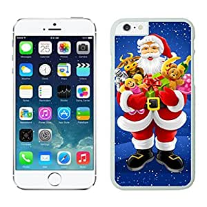 Iphone 6 Cases,Personalization Christmas Santa Claus Animal Gifts White Protective Case For Iphone 6 4.7 Inch