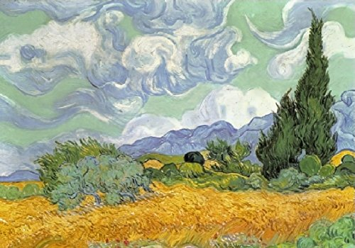 Wentworth Wheat Field with Cypresses 40 Piece Wooden Vincent van Gogh Jigsaw Puzzle
