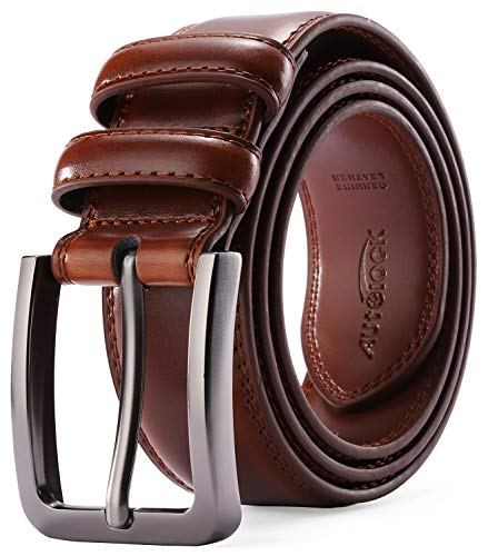 (Mens Belt - Autolock Genuine Leather Dress Belt - Classic Casual Belt for Men in Gift Box)