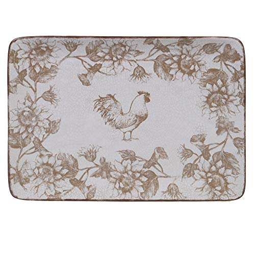Certified International Toile Rooster Rectangular Platter, 16