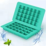 Silicone Ice Cube Trays/Molds BPA Free BTSHOW Ice Cube Trays Set 2-Pack for Mini Fridge with 48 Small Square Ice Cubes Molds for Whiskey Baby Food Storage Containers,No Odor or Aftertaste (Mint Green)