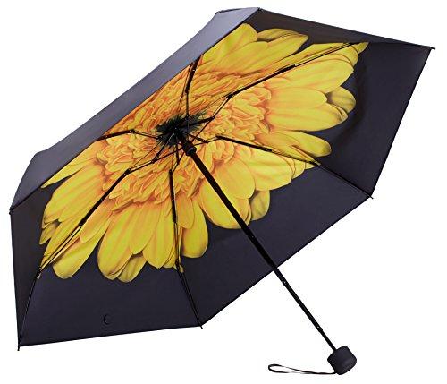 FidusUltraLightMiniCompactTravelUmbrella–WindproofPortableParasolSun&RainOutdoorGolfUmbrellawith95%UVProtectionforWomenMenKids-Sunflower