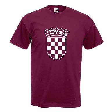 KIWISTAR - Flagge Kroatien Wappen T-Shirt in 15 verschiedenen Farben - Herren  Funshirt bedruckt