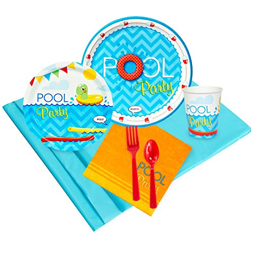 Summer Beach Ball Pool Party Supplies - Party Pack for 24