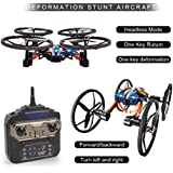 PINCHUANGHUI LiDiRC L9 RC Quadcopter Drone Airphibian Flying Car RTF ,One Key Deformation Stunt Aircraft 2.4G 8CH 6-Axis Speed Switch with 3D Flips