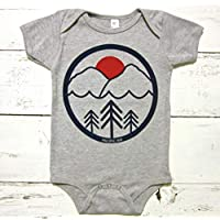 Pacific Northwest baby onesie. Pac NW unisex baby body suit. PNW infant one piece.