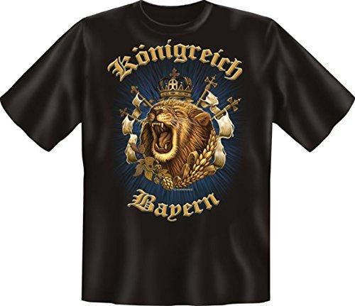 T-Shirt - Königreich Bayern - Hochwertiges Motiv Shirt als Geschenk für Bayern Fans