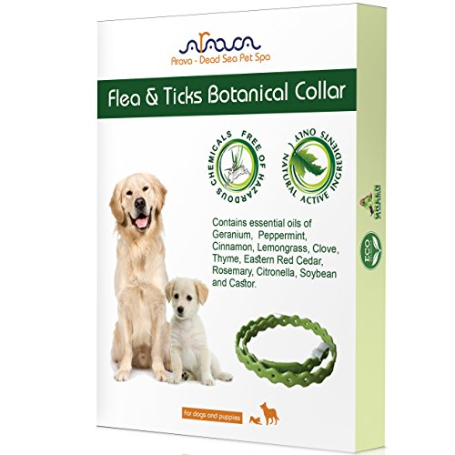 "Arava Flea and Tick Control Collar for Dogs and Puppies, Length-25"" – Natural active ingredients, Safe for Babies, Natural Coating Safely Repels Pests – Prevention, Control & Enhanced Defense"