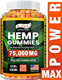 Dr JOELS Premium Gummies - 75,000 MG - Help with Sleep, Inflammation & Anxiety - 100 cts - Rich in Vitamins & Omega 3,6,9 - Made in The USA