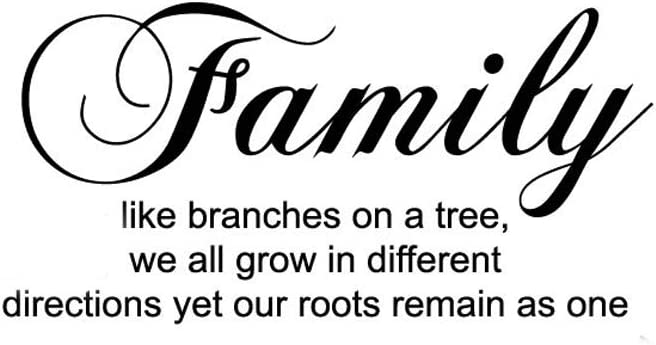ADECALS Family Like Branches on a Tree Wall Decal Home Bathroom Wall Art Stickers Decor