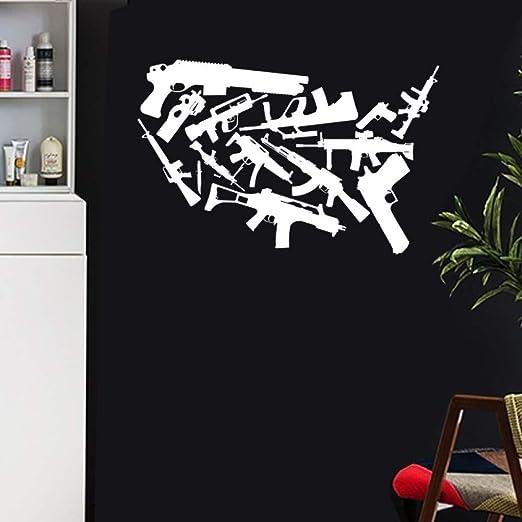 Pistola Arma Mapa Pegatina calcomanía Cartel cafetería ...