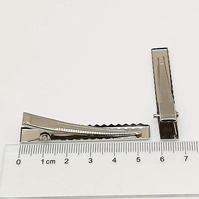 "10  Duck Bill Alligator clip flat back 55 mm 2 1//8 /"" across  Free shipping"