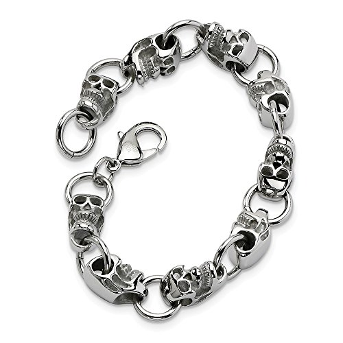 ICE CARATS Stainless Steel Gothic 8.75in Bracelet 8.75 Inch Men Fashion Jewelry Gift for Dad Mens for Him -