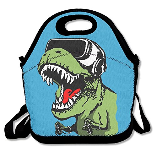 Flying XIE Lunch Tote Bag Fashion Dinosaurs With Goggles Insulated Lunch Box Food Bag Pouch Tote Bag For Adults, Kids School Work Picnic Reusable Container - Goggles Online Fancy