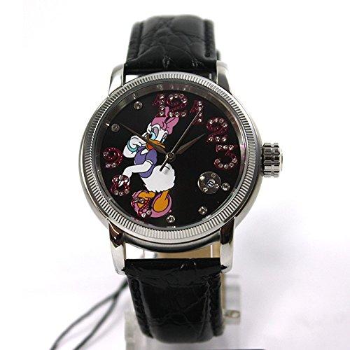 Disney Reloj Automático Reloj Daisy Duck Mujer Reloj Correa de piel, indicación de fecha brillantes