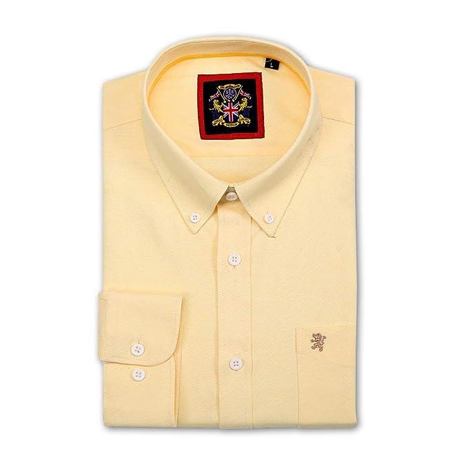 Camisa de manga larga para Hombres, Modelo English Oxford Cuello con botones, con Bolsillo