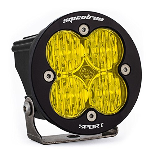 Baja Designs Squadron-R Sport ATV LED Light Wide Cornering Amber Pattern