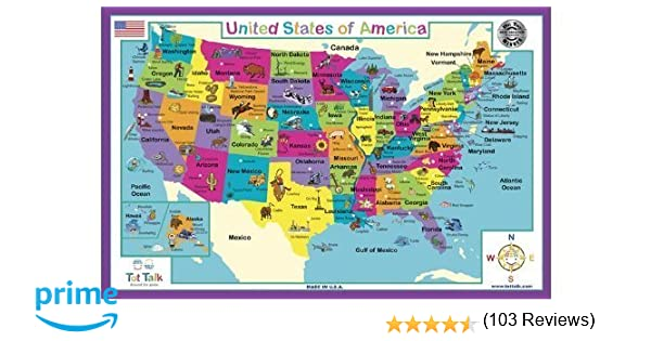Amazon.com: Tot Talk United States of America Placemat: Toys & Games