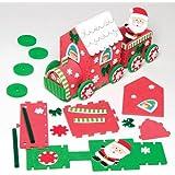 Baker Ross Kit de décoration train du père Noël que les enfants pourront assembler pour Noël – Jouet de loisirs créatifs en mousse à fabriquer par les enfants à Noël (Un élément).