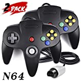 8 bit video game console - 2 Pack N64 Controller, iNNEXT Classic Wired N64 64-bit Game pad Joystick for Ultra 64 Video Game Console N64 System Mario Kart (Black)
