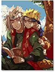 Shukqueen Diy Oil Painting, Adult's Paint by Number Kits, Acrylic Painting Anime Poster Painting 16X20 Inch (Frameless)