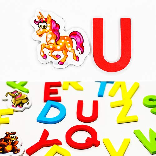 Zoo Animals Puzzle Shaped (Magnetic Letters Animals for Educational Fun Refrigerator Alphabet For Toddlers Magnets fridge Set of 52 ABC Educating Kids Foam Letters Animals Zoo CHARACTERS MAGNETS Magnetico)