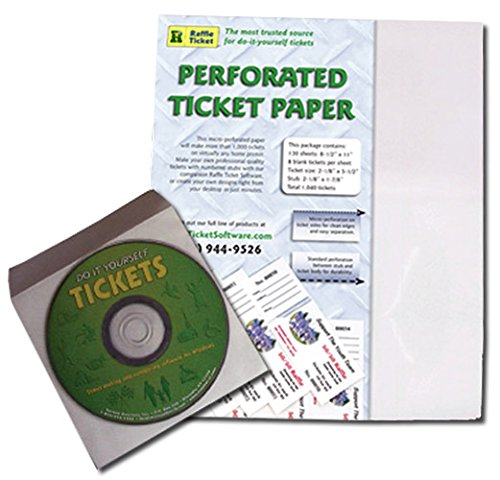 amazon com raffle ticket start up kit perforated paper for 1 000
