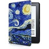 Capa para Kindle Básico da 8a geração - Rígida - Fecho Magnético - Hibernação - Estampada (Noite Estrelada)