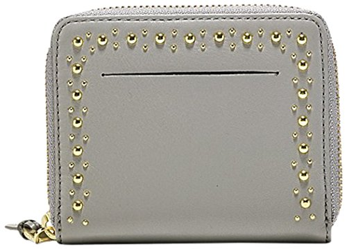 MARLI STUDDING SMALL ZIP WALLET Wallet, IRONSTONE, One Size by Cole Haan